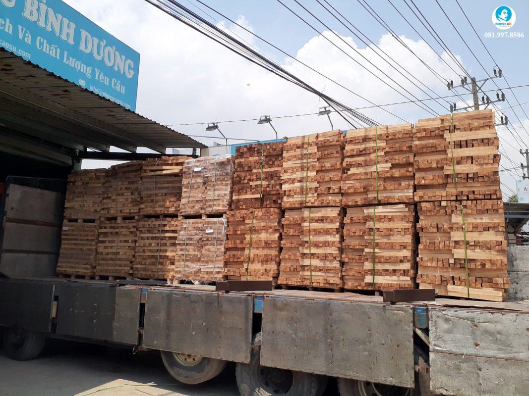 hình công ty phôi gỗ cao su