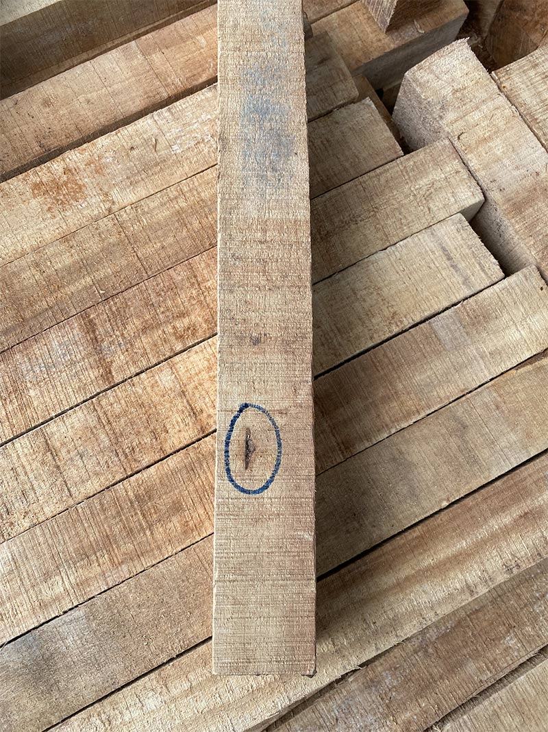 phôi gỗ cao su loại B