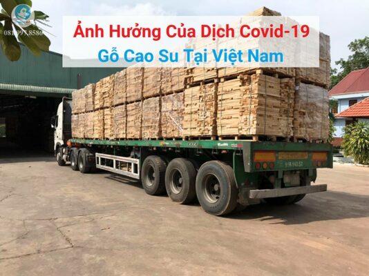Ảnh hưởng của dịch Covid-19 đến thị trường gỗ cao su tại Việt Nam