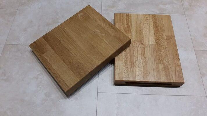 Gỗ cao su và gỗ sồi