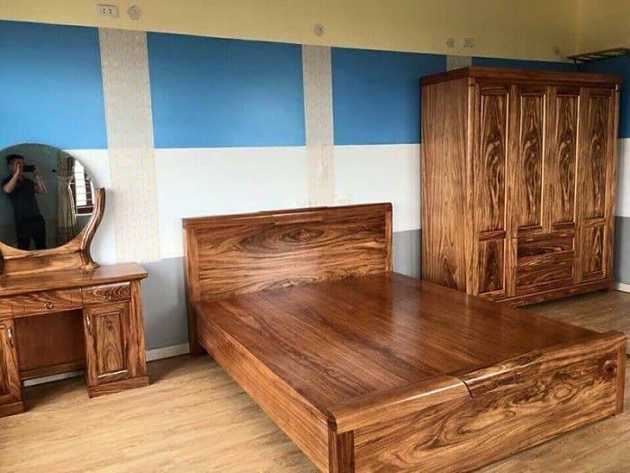 Giường tủ làm từ gỗ Hương xám