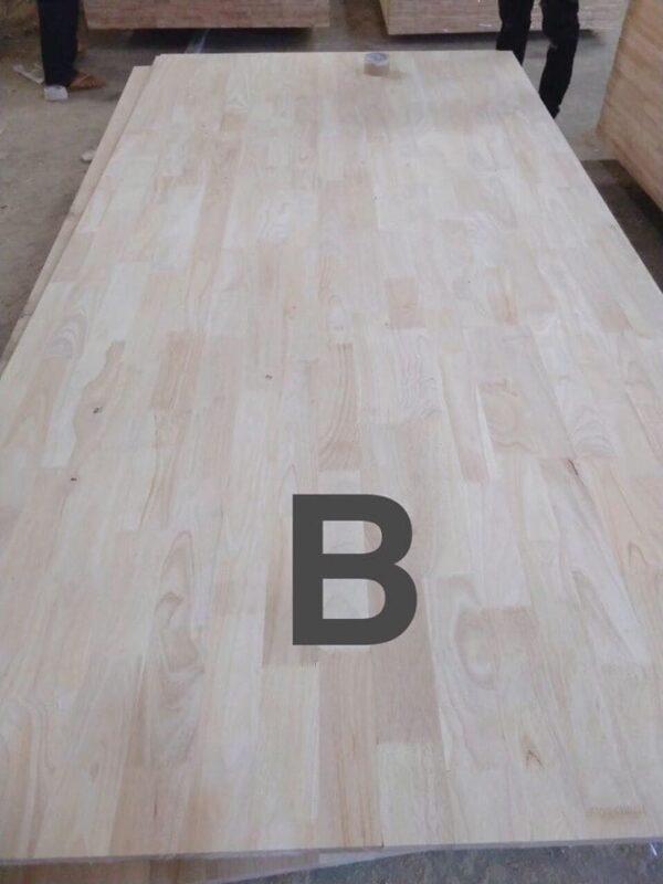 Ván ghép gỗ cao su mặt B