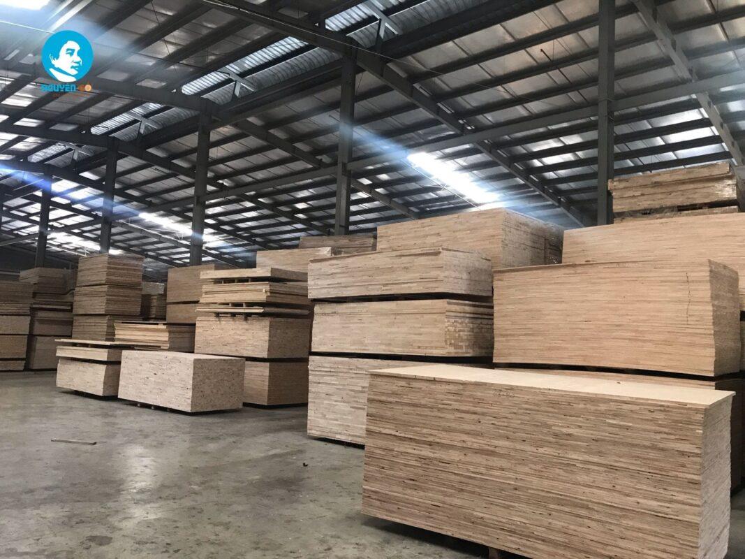 Kho ván ghép gỗ cao su - Nguyên Gỗ