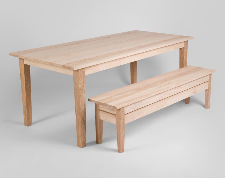 Bàn ghế gỗ tần bì đơn giản