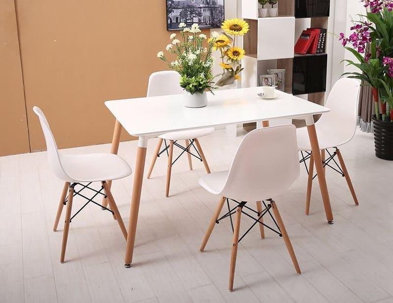 Bàn ghế cafe gỗ chân đan