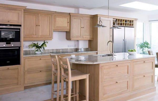 Nội thất tủ gỗ tần bì nhà bếp