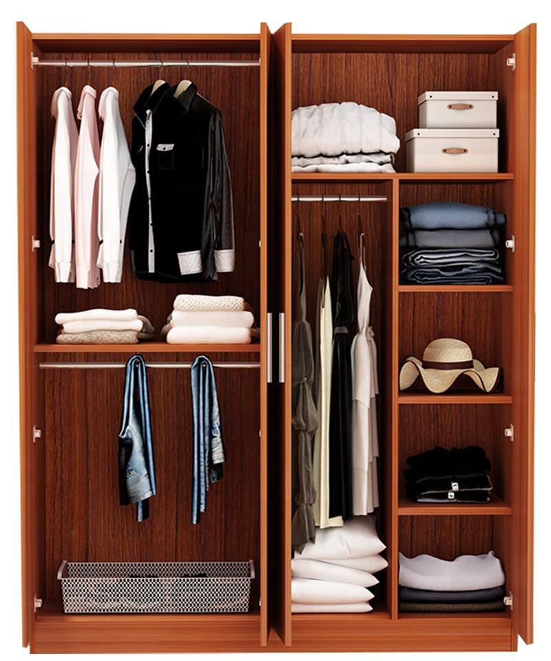 Mẫu 5: Tủ quần áo gỗ cao su