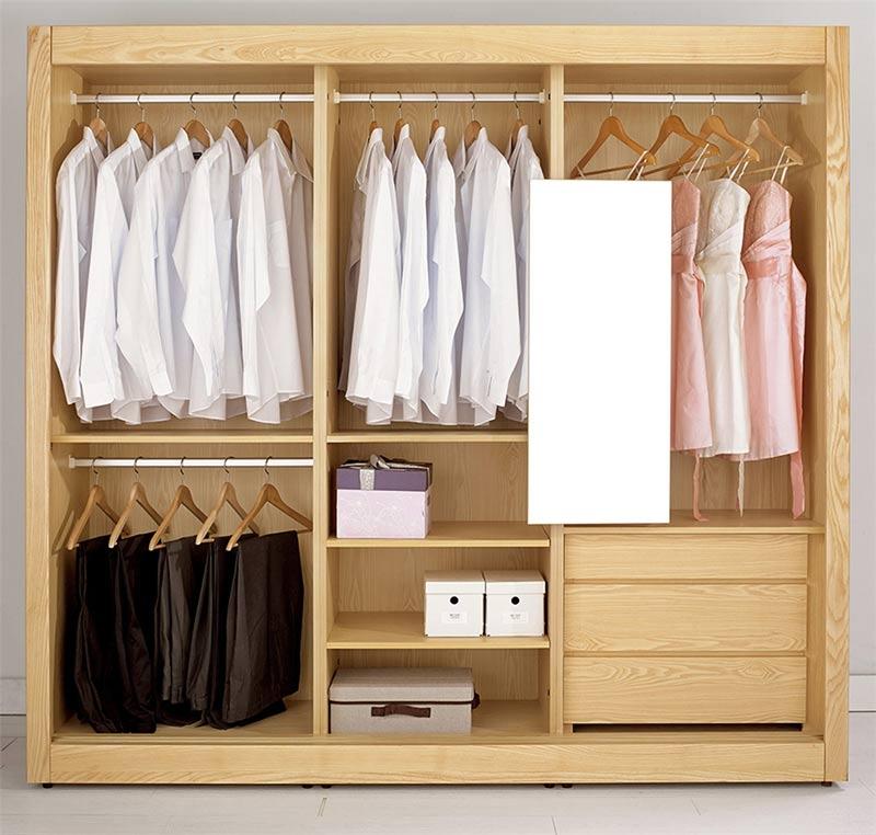 tủ quần áo gỗ cao su