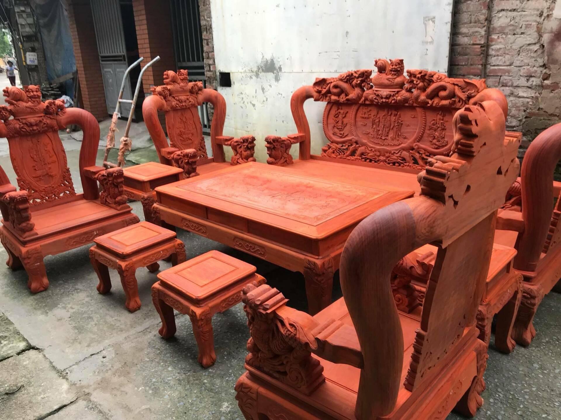 Bàn ghế phong khách gỗ hương