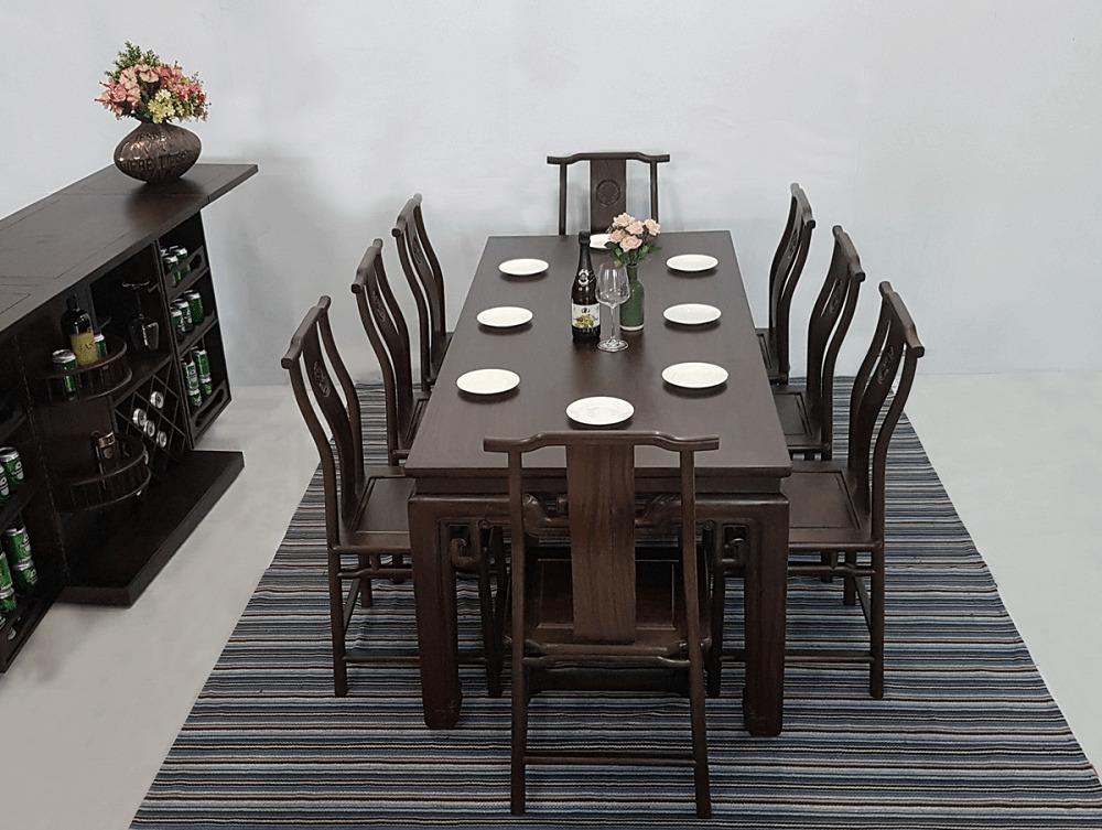 Bộ bàn ghế phòng ăn gỗ muồng đen