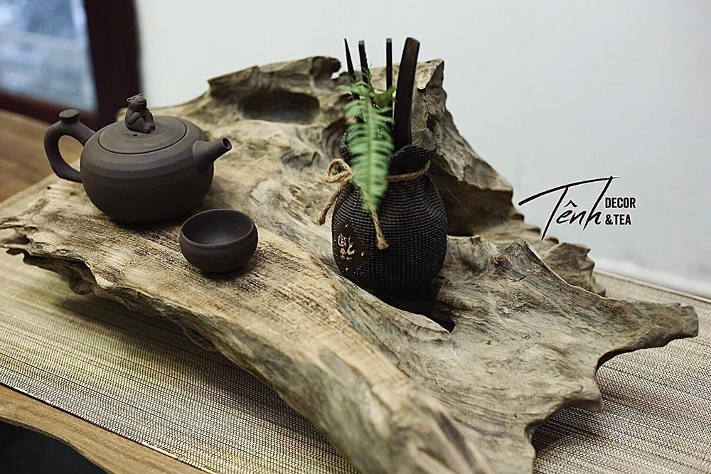 Khay rà làm từ gỗ lũa