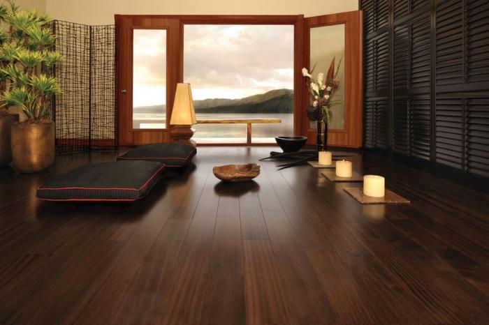 Sàn gỗ muồng đen sang trọng